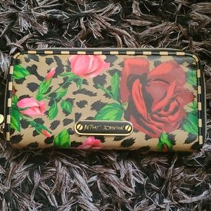 Betsey Johnson Leopard Floral Wallet